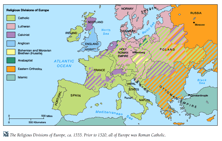 Religion Map Of Europe